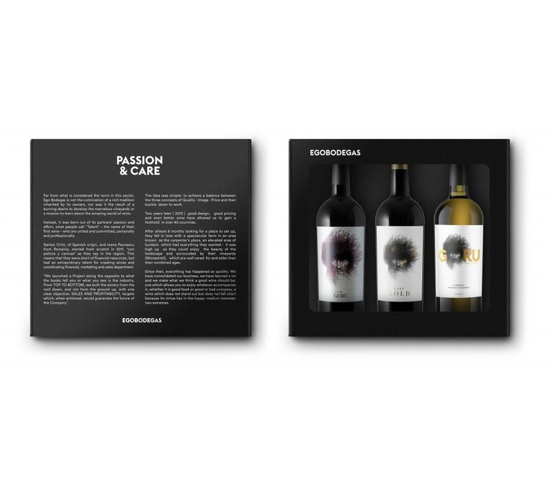 Geschenkpaket charactervoller Spanischer Wein (3 x 75cl) - El Goru
