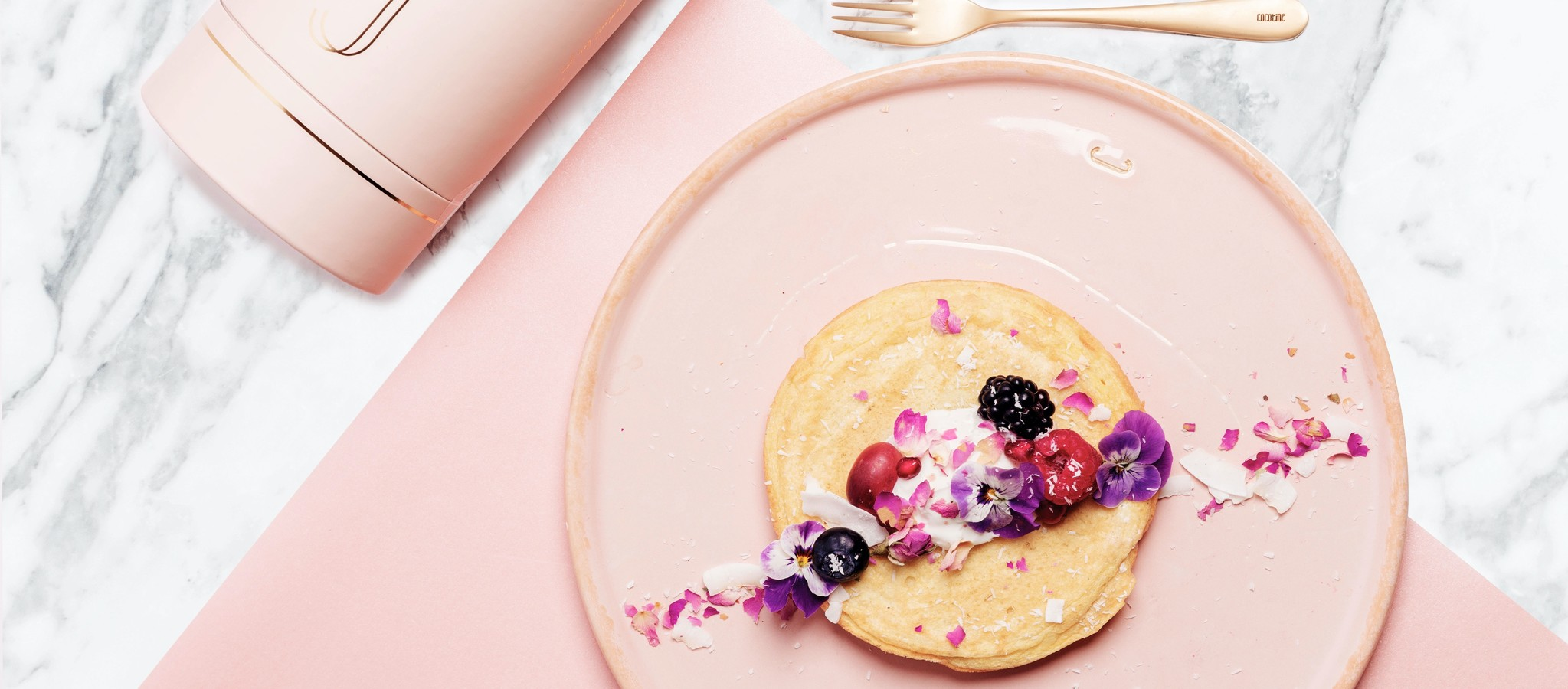 Fluffy vegan (soja) pancakes van Cocotine