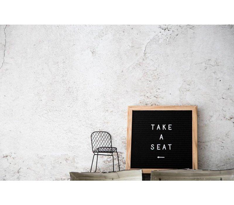 Letter board - 30 x 30 - Zwart
