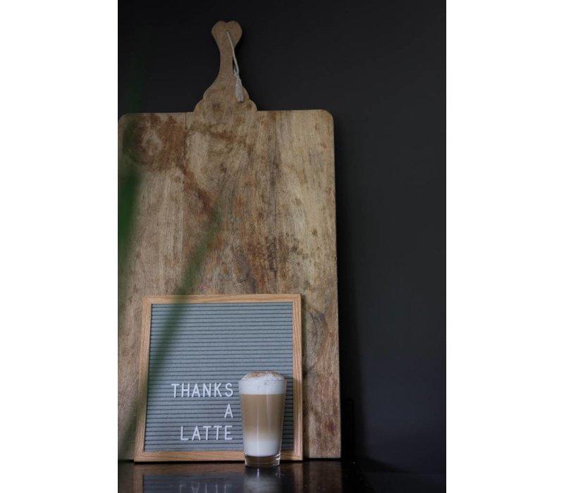 Letter board - 30 x 30 - Grijs