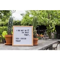Letter board - 30 x 30 - Wit