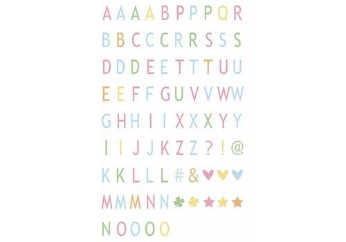 LEDR® LEDR® - 85 pastelkleurige letters & symbolen - A3 & A4