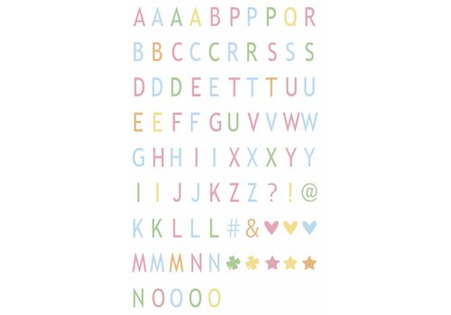 LEDR® LEDR® - 85 pastel coloured letters & symbols - A6