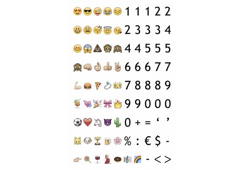 LEDR® LEDR® - 85 emoticons & numbers - A6