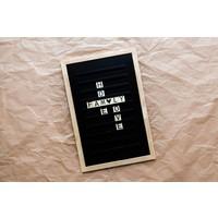 Oldschool Letter board - 30 x 45 - Black