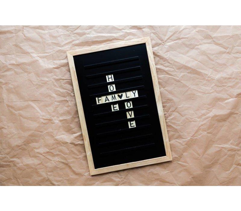 Oldschool Letter board - 30 x 45 - Zwart