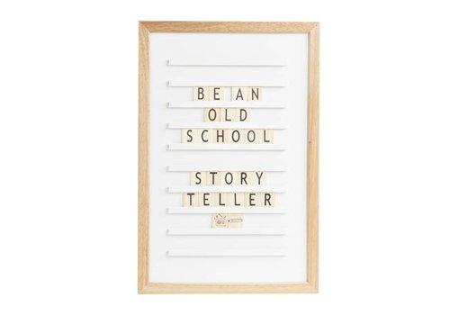 LEDR® Oldschool Letter board - 30 x 45 - Wit
