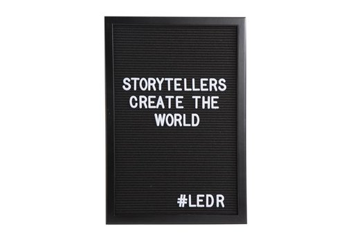 LEDR® Letter board - 30 x 45 - All black