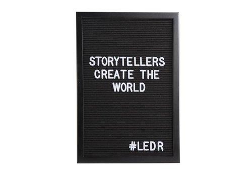 LEDR® Letter board - 30 x 45 - Volledig zwart