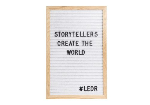 LEDR® Letter board - 30 x 45 - White