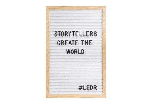 LEDR® Letter board - 30 x 45 - Wit