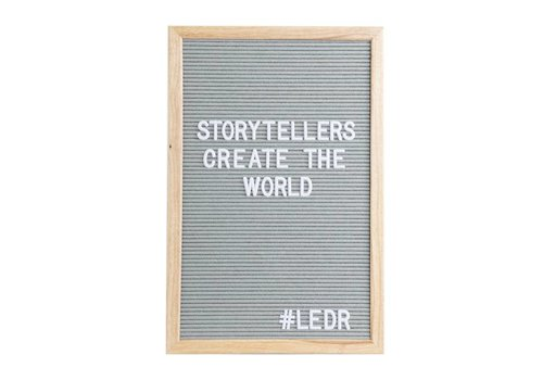 LEDR® Letter board 30 x 45 Grey