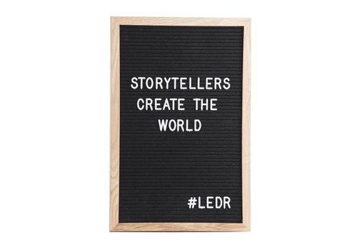 LEDR® Letter board - 30 x 45 - Zwart