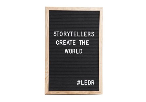 LEDR® Letterboard - 30 x 45 - Zwart
