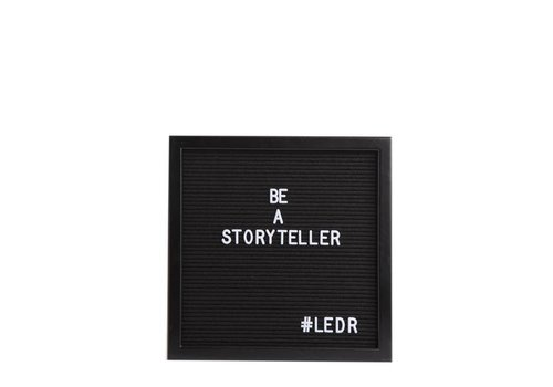 LEDR® Letter board - 30 x 30 - All black
