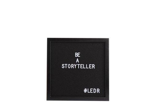 LEDR® Letter board - 30 x 30 - Volledig zwart