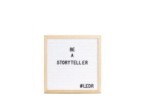 LEDR® Letter board - 30 x 30 - Wit