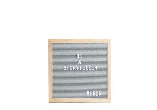 LEDR® Letter board - 30 x 30 - Grijs