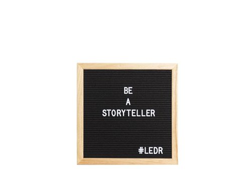 LEDR® Letter board - 30 x 30 - Black