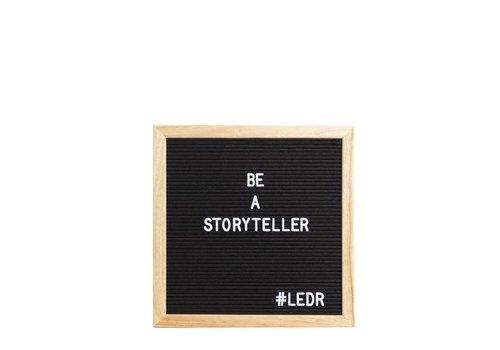 LEDR® Letter board - 30 x 30 - Zwart