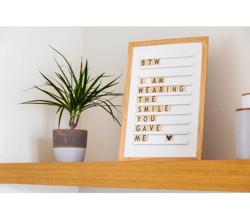 Oldschool Letter board - 30 x 45 - Wit