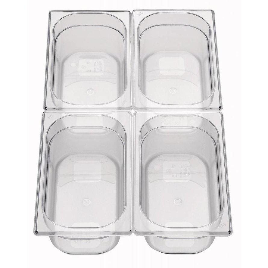 GN-Behälter 1/4 Polycarbonat 65mm