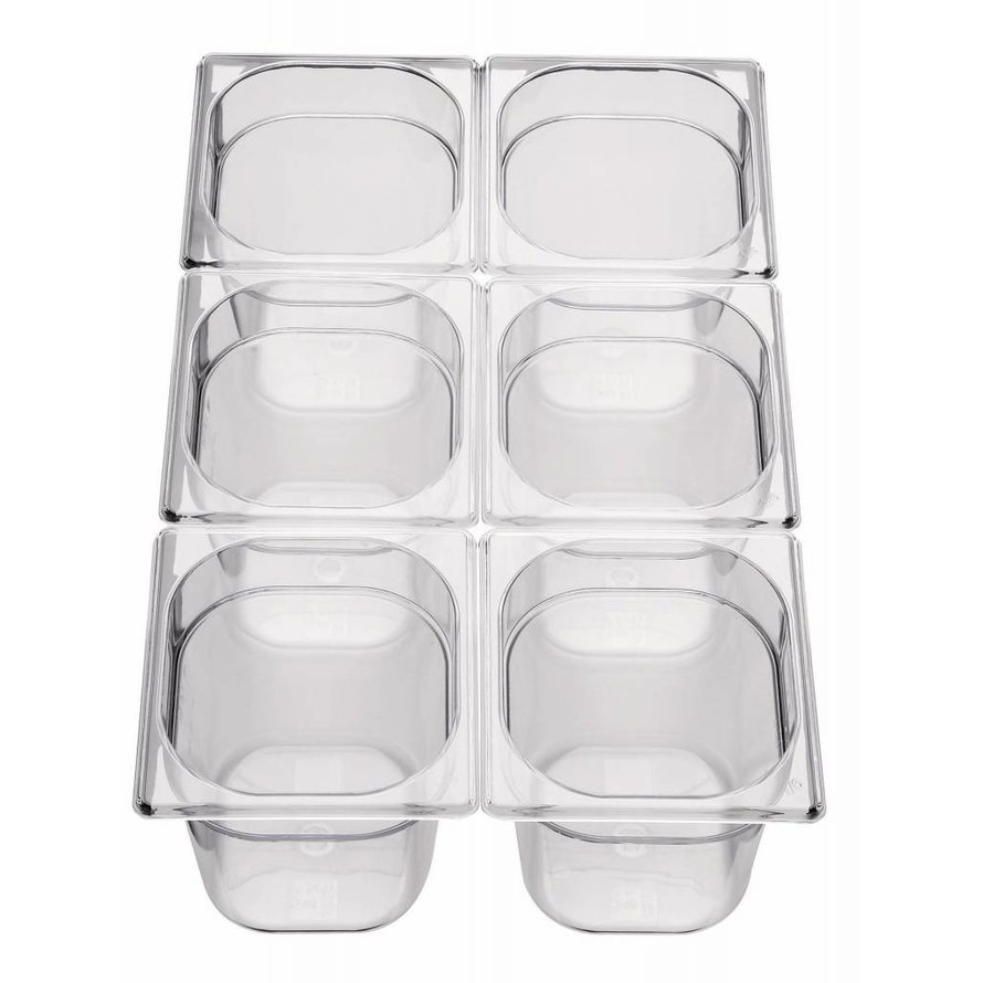 GN-Behälter 1/6 Polycarbonat 65mm