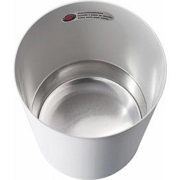 Sicherheitspapierkorb mit Aluminium-Einsatz lichtgrau