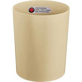 Papierkorb ohne Metallboden beige
