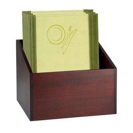 Speisenkarten-Box dunkelbraun