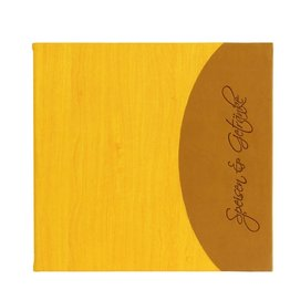 "Speisenkarte ""Felie"" quadratisch orange"