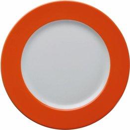 Teller flach Ø 26 cm orange