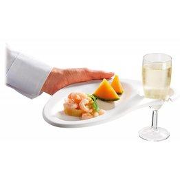 Teller mit Glashalter