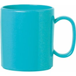 "Becher ""Colour"" mit Henkel 0,325L Kunststoff PBT  hellblau"