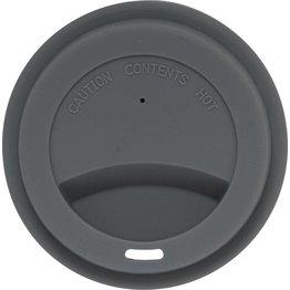 Silikondeckel für Coffee to Go Becher grau, zu 0,2L