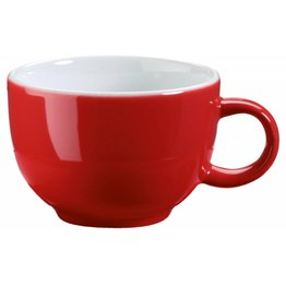 Kaffee-/Cappuccinotasse obere rot