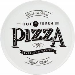 """Pizzateller weiß mit Dekor """"Host & Fresh"""" Ø 30 cm - NEU"""