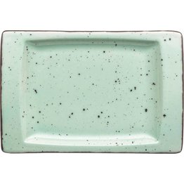 "Porzellanserie ""Granja"" mint Platte flach eckig, 18 x 12 cm - NEU"