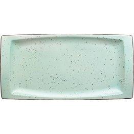 "Porzellanserie ""Granja"" mint Platte flach eckig, 18 x 36 cm - NEU"