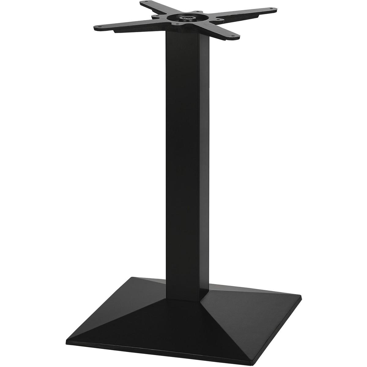 Tischsäule inkl. Fuß und Kreuz, schwarz, Höhe 108 cm, 42,5x42,5 cm