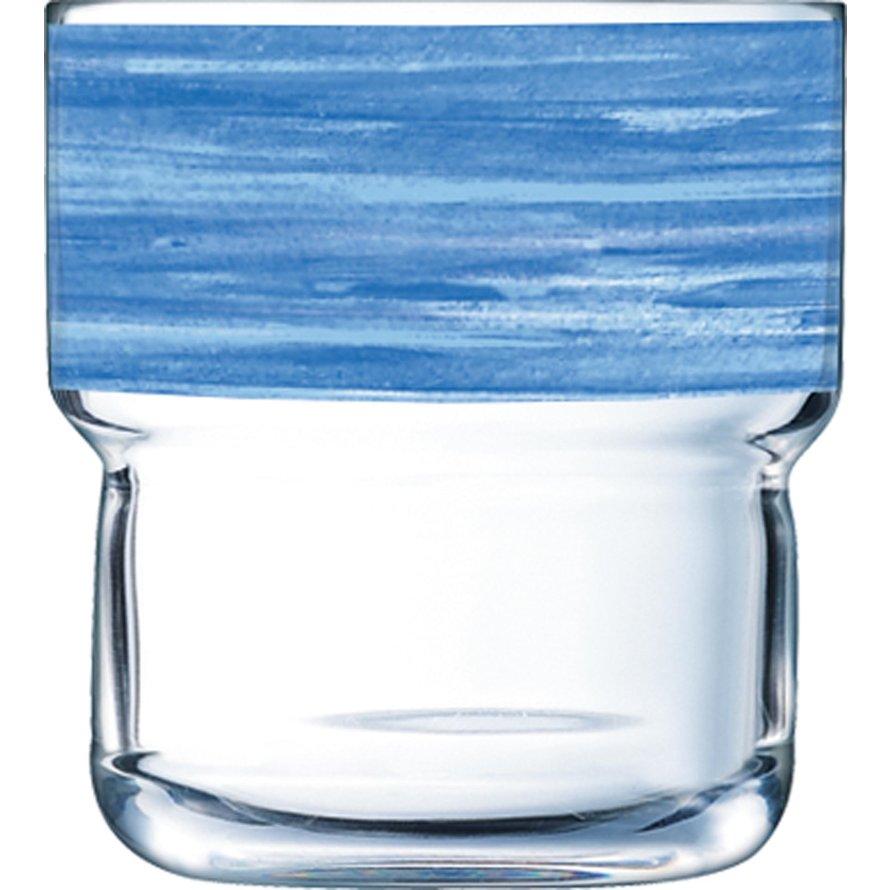 "Glasserie ""Brush"" Blau 220ml"