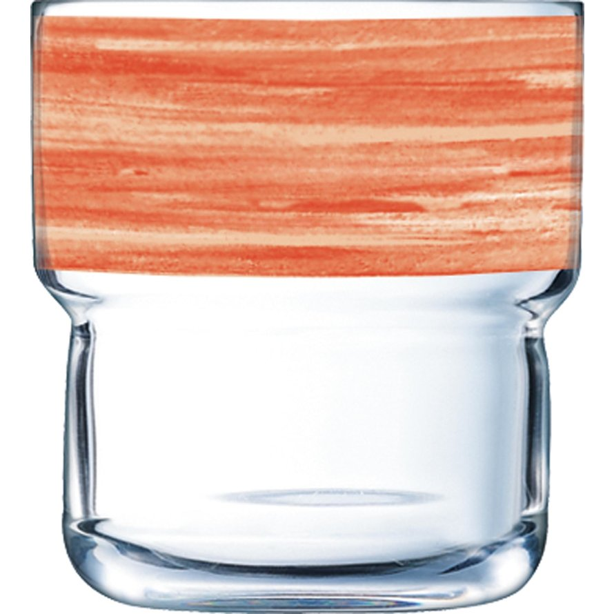 "Glasserie ""Brush"" Orange 220ml"