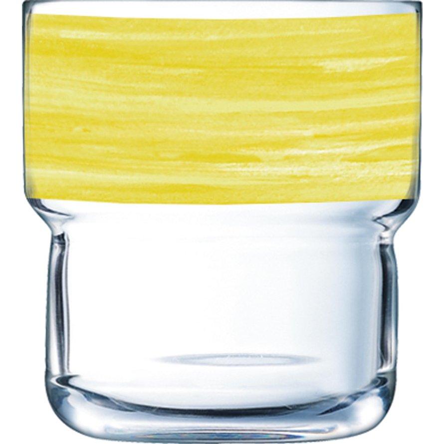 """Glasserie """"Brush"""" Gelb 220ml"""