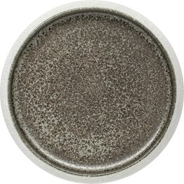 "Porzellan Serie ""Samoa"" grau Teller flach Ø19cm - NEU"
