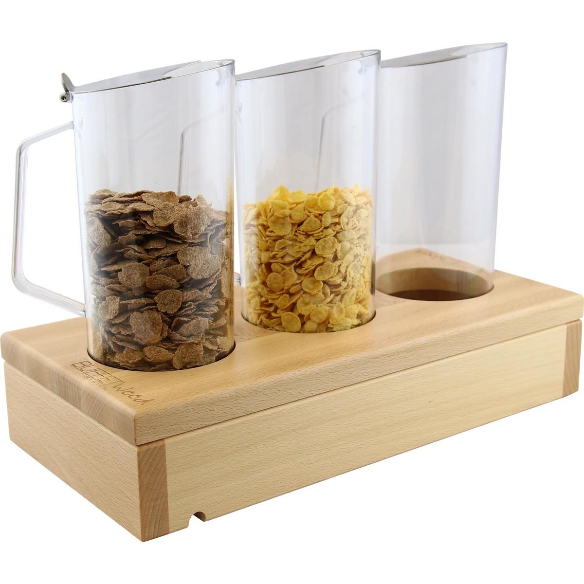 """Modul """"Wood"""" Buche natur lackiert """"Cerealien-Karaffen"""""""