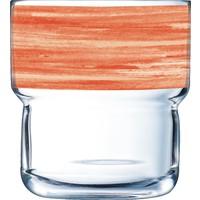 "Glasserie ""Brush"" Orange 220ml (1)"