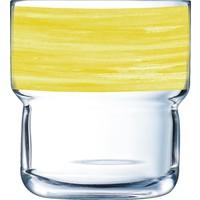 """Glasserie """"Brush"""" Gelb 220ml (1)"""