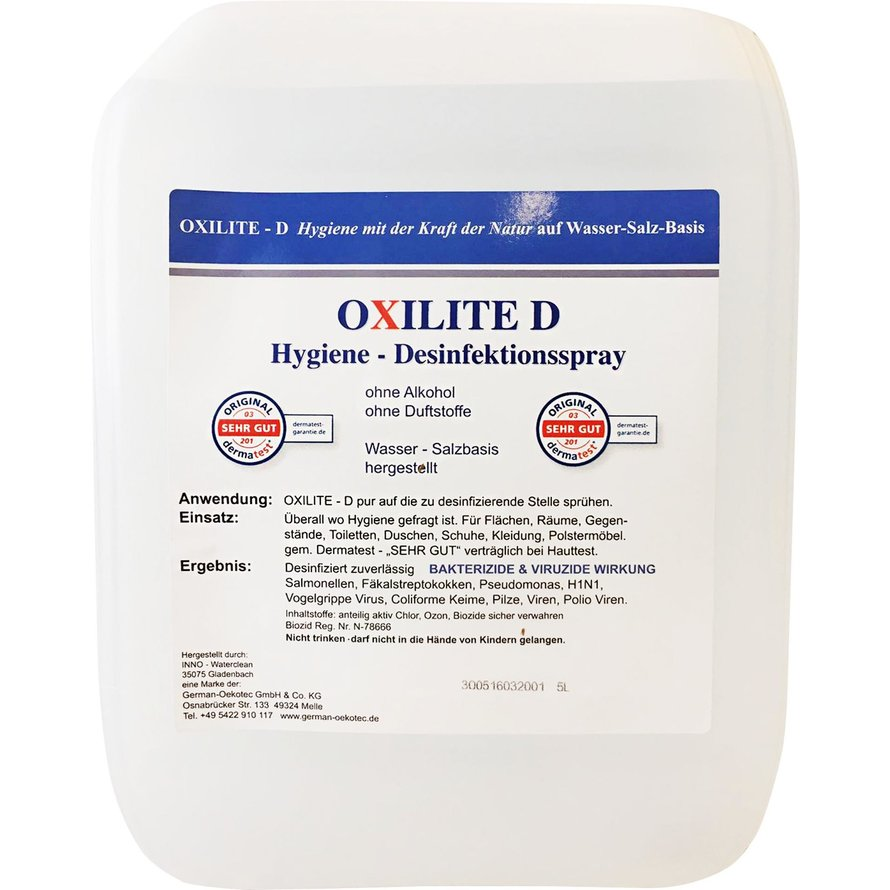 """Flächendesinfektion """"Oxilite D"""""""