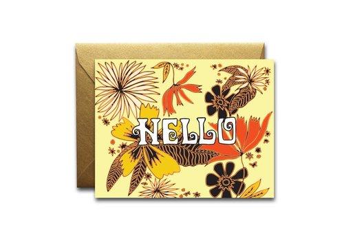 Native Bear Native Bear - Hello Floral - Greeting Card