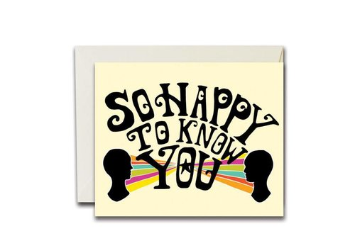 Native Bear Native Bear - So Happy to Know You - Greeting Card